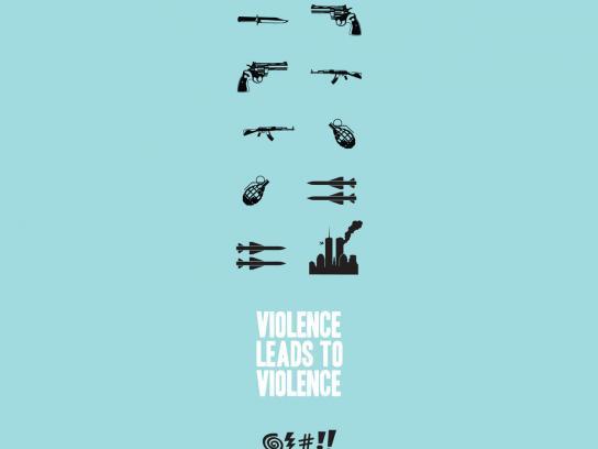 Convivencia Sin Violencia Print Ad -  Violence leads to violence, 2