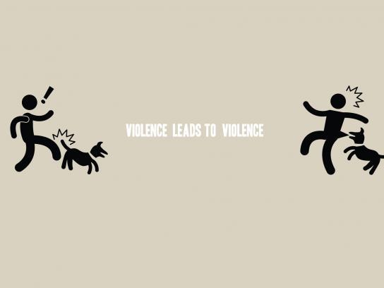 Convivencia Sin Violencia Print Ad -  Violence leads to violence, 4