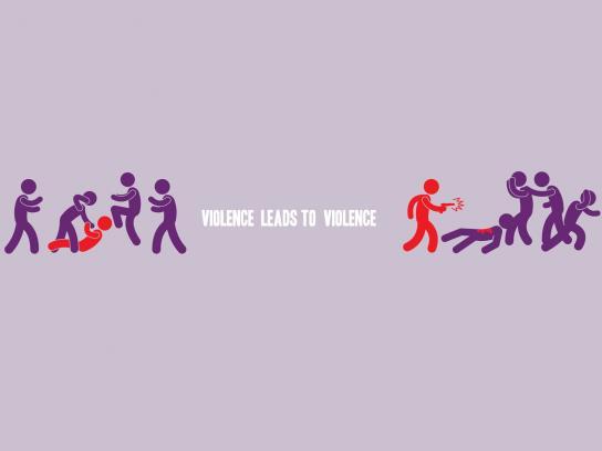 Convivencia Sin Violencia Print Ad -  Violence leads to violence, 3