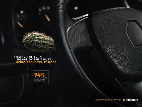 O Imparcial Print Ad - The Turn Signal Doesn't Hurt - Cactus