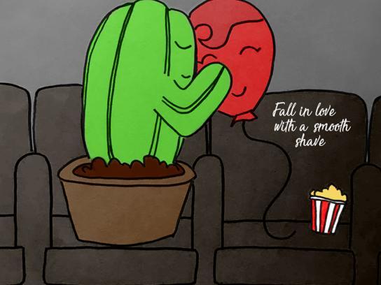 Gillette Print Ad - Cactus, 1