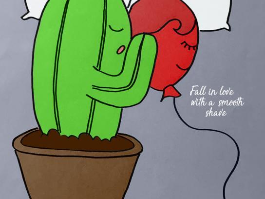 Gillette Print Ad - Cactus, 2