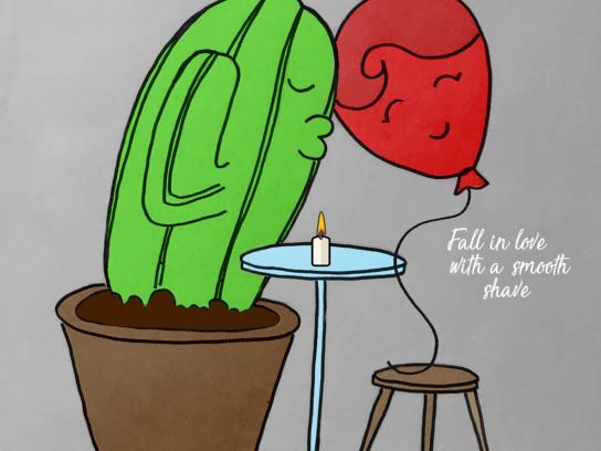 Gillette Print Ad - Cactus, 3