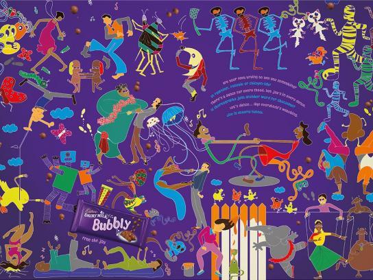 Cadbury Print Ad -  Dancers