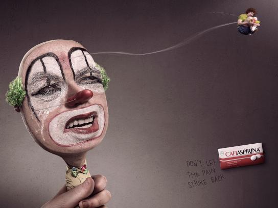 Cafiaspirin Print Ad -  Clown