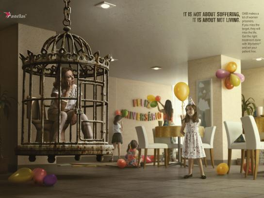 Astellas Farma Brasil Outdoor Ad - Miss the party