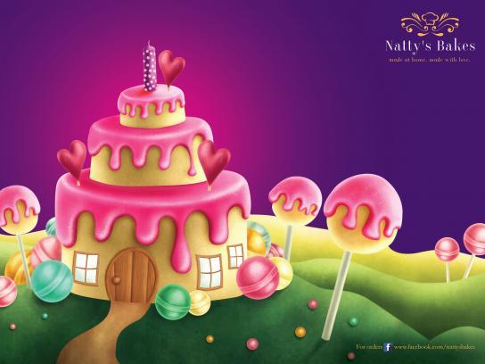 Natty's Bakes Print Ad - Cake Walk