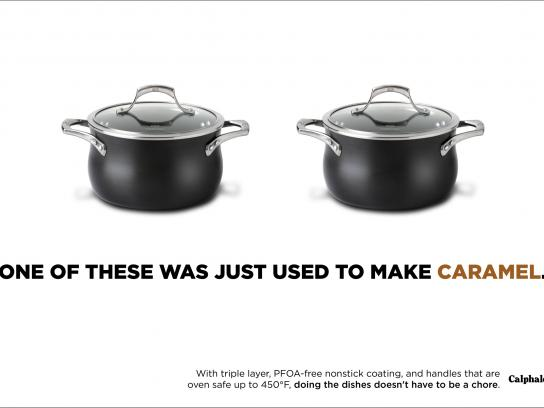 Calphalon Print Ad - Can't Tell The Difference - Caramel