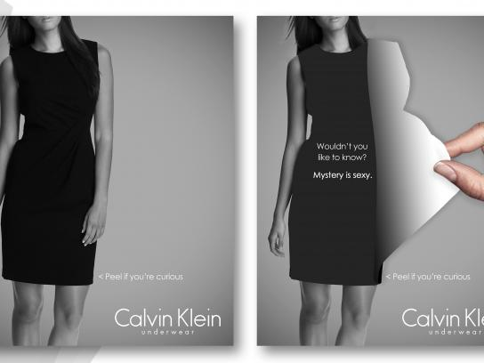 Calvin Klein Print Ad - Mystery is sexy