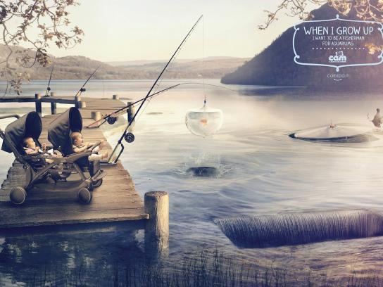 Cam Print Ad -  Fisherman
