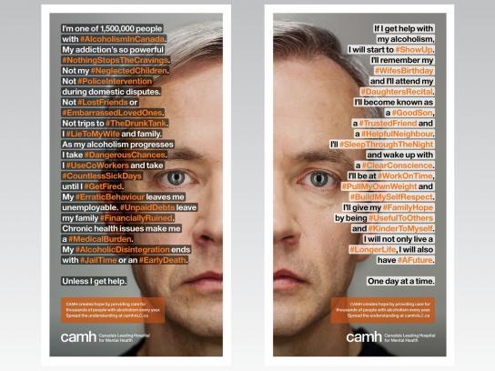 CAMH Print Ad -  #AlcoholismInCanada