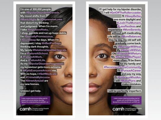 CAMH Print Ad -  #BipolarDisorderInCanada