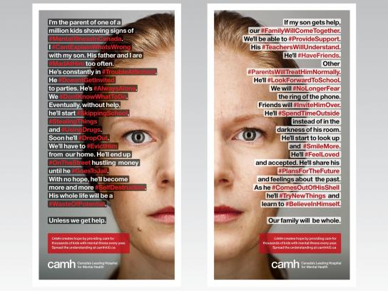 CAMH Print Ad -  #MentalIllnessCanada