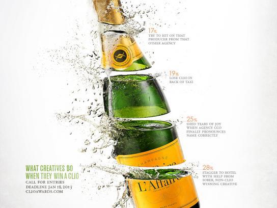 CLIO Awards Print Ad -  Champagne
