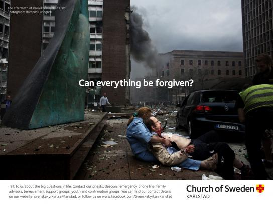 Church of Sweden Outdoor Ad -  Big Questions, 2