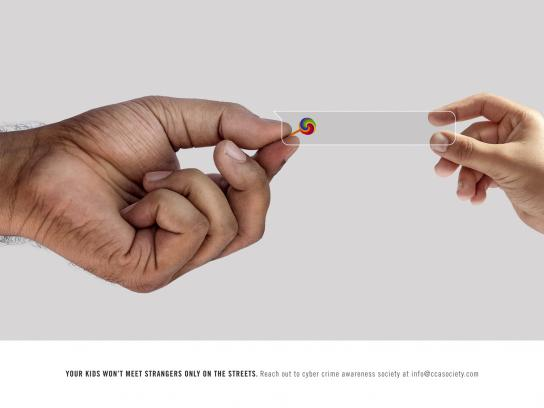 Cyber Crime Awareness Society Print Ad - Online Predators, Candy