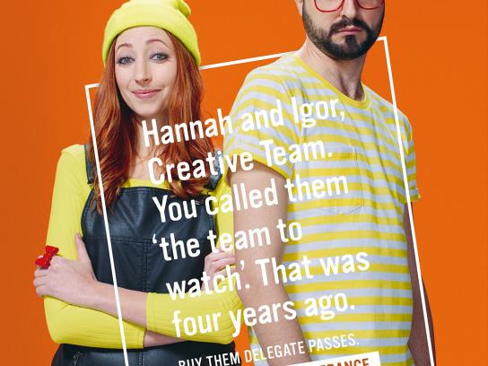 Cannes Lions Print Ad -  Hannah and Igor