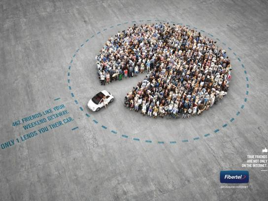 Fibertel Outdoor Ad -  Car