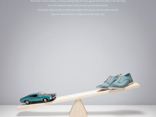 Rollie Print Ad -  Muscle Car vs Derby Blue