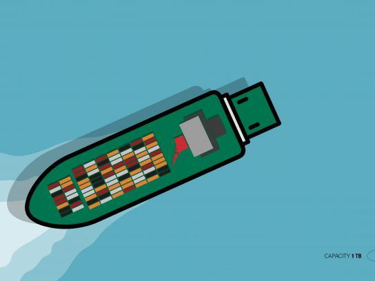 Snova Print Ad - Cargo Ship