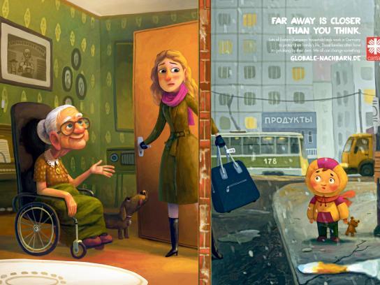 Globalization and Solidarity Print Ad -  Global Neighbors, Care