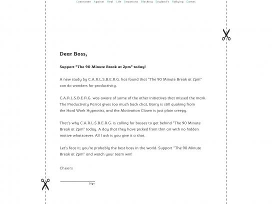 Carlsberg Print Ad - #90MinuteBreak