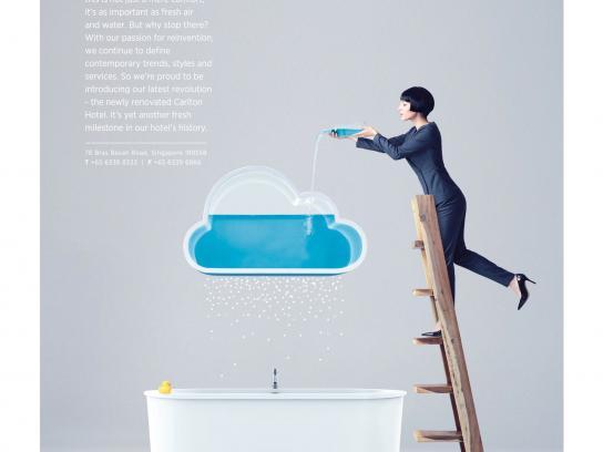 Carlton Hotel Singapore Print Ad -  Fresh and inviting, 1
