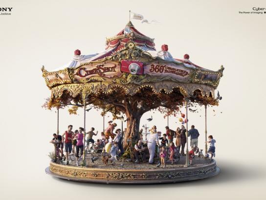 Sony Print Ad -  Carrousel