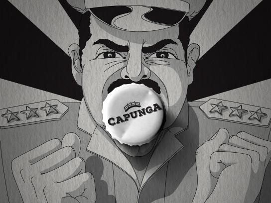 Capunga Craft Beer Print Ad - Military