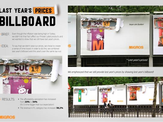 Migros Outdoor Ad -  Last year's prices