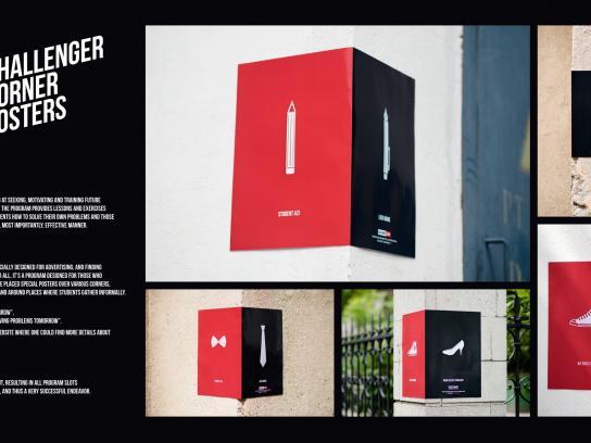 Challenger Outdoor Ad -  Challenger Corner Posters