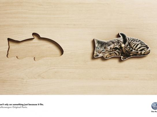 Volkswagen Outdoor Ad -  Cat