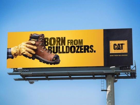 Cat Footwear Outdoor Ad - Born From Bulldozers