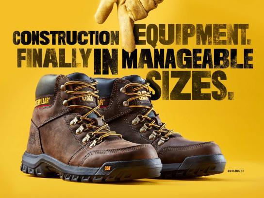 Cat Footwear Print Ad - Construction Equipment