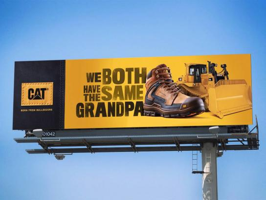 Cat Footwear Outdoor Ad - Same Grandpa