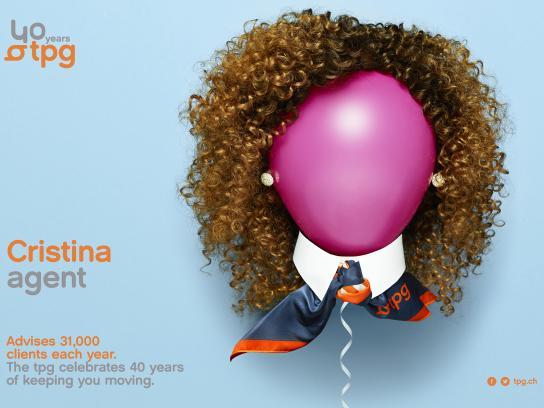 Geneva Public Transports Print Ad - TPG - Cristina