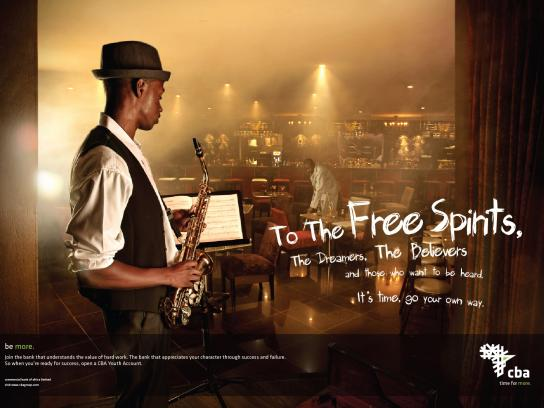 Central Bank of Africa Print Ad -  Free spirits