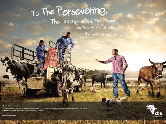 Central Bank of Africa Print Ad -  Persevering