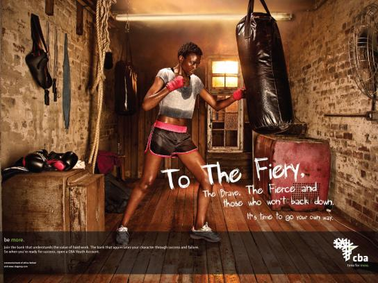 Central Bank of Africa Print Ad -  Fiery