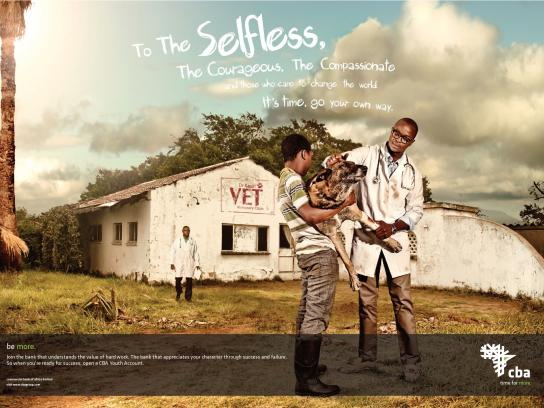 Central Bank of Africa Print Ad -  Selfless