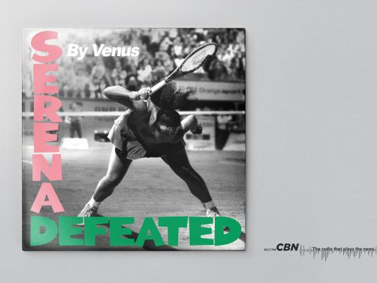 CBN Print Ad - Serena Defeated