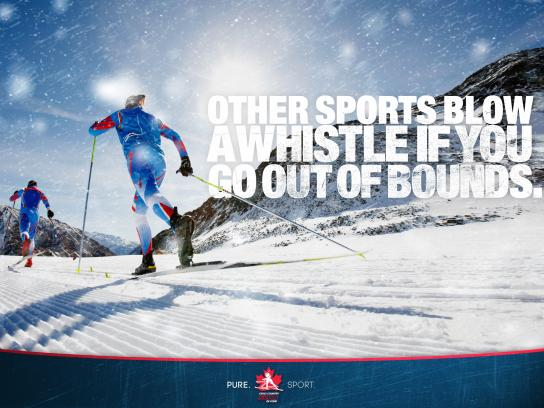 Cross Country Ski Canada Outdoor Ad -  Out of bounds