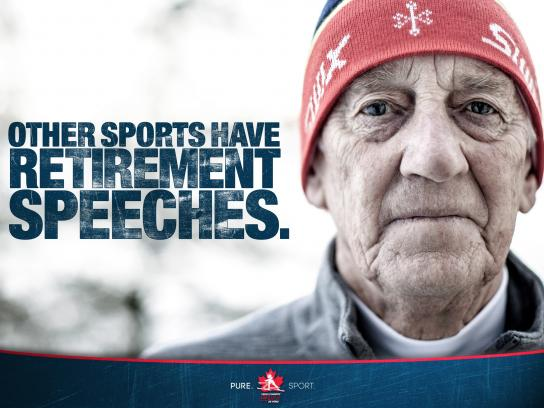 Cross Country Ski Canada Outdoor Ad -  Speeches