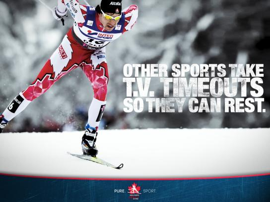 Cross Country Ski Canada Outdoor Ad -  Timeouts