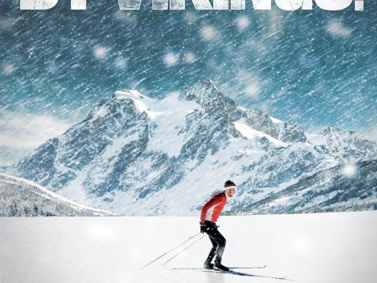 Cross Country Ski Canada Outdoor Ad -  Vikings
