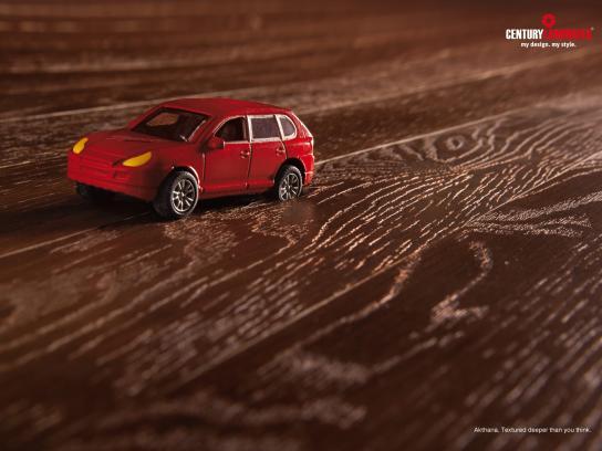 Century Laminates Print Ad -  Toy car