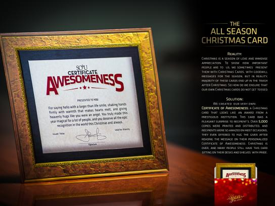 SO&U Direct Ad -  The All Season Christmas Card