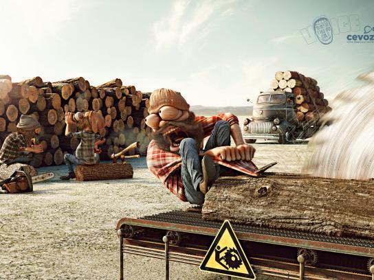 Cevoz Print Ad -  Lumberjack