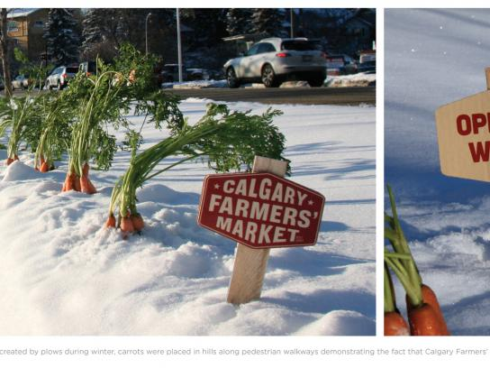 Calgary Farmers' Market Outdoor Ad -  Carrots