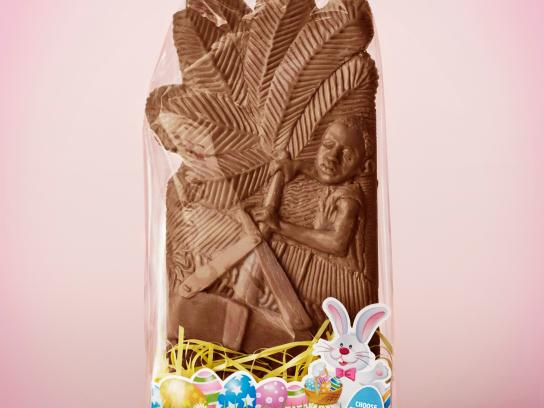 The Canadian Fair Trade Network Print Ad -  Easter chocolate
